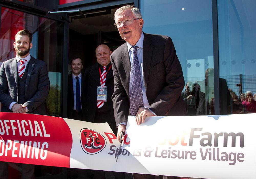 Sir Alex Ferguson Opening Poolfoot Farm